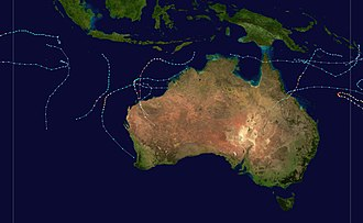1988–89 Australian region cyclone season - Image: 1988 1989 Australian cyclone season summary