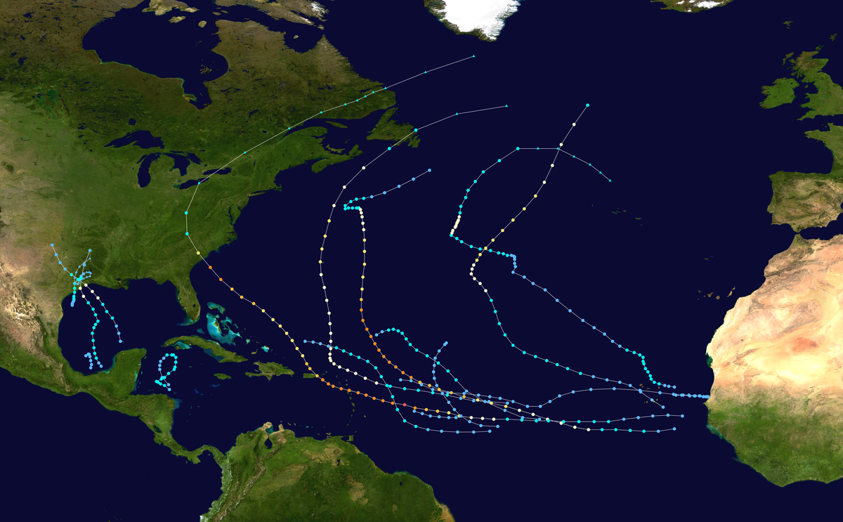 1989 Atlantic hurricane season  Wikipedia