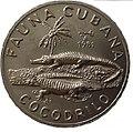1 песо. Куба. 1981. Фауна Кубы - Кубинский крокодил.jpg