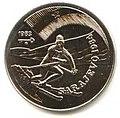 1 песо. Куба. 1983. XIV зимние Олимпийские игры, Сараево 1984 - Горнолыжник.jpg