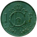 1 franc Luxembourg Charlotte (1960)-revers.png