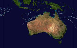 2005–06 Australian region cyclone season - Image: 2005 2006 Australian cyclone season summary