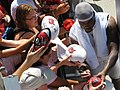 20070804 Cato June signs autographs at training camp.jpg