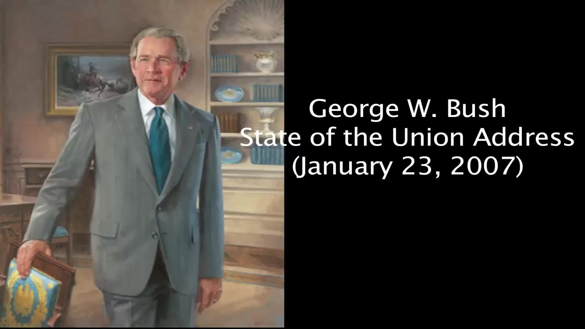 State Of Union Jan 23 2007 >> File 2007 George W Bush State Of The Union Address January 23