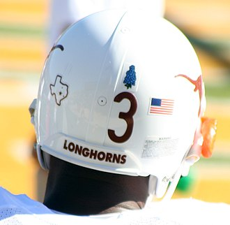2007 Texas Longhorns football team - The Texas bluebonnet decal honored President Lyndon B. Johnson and his family.
