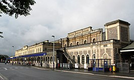 2008 at Exeter St Davids - station frontage.jpg