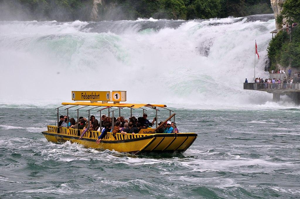 Rhine Falls-Boat Switzerland in October