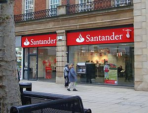 Santander UK - A rebranded branch of Santander in Peterborough