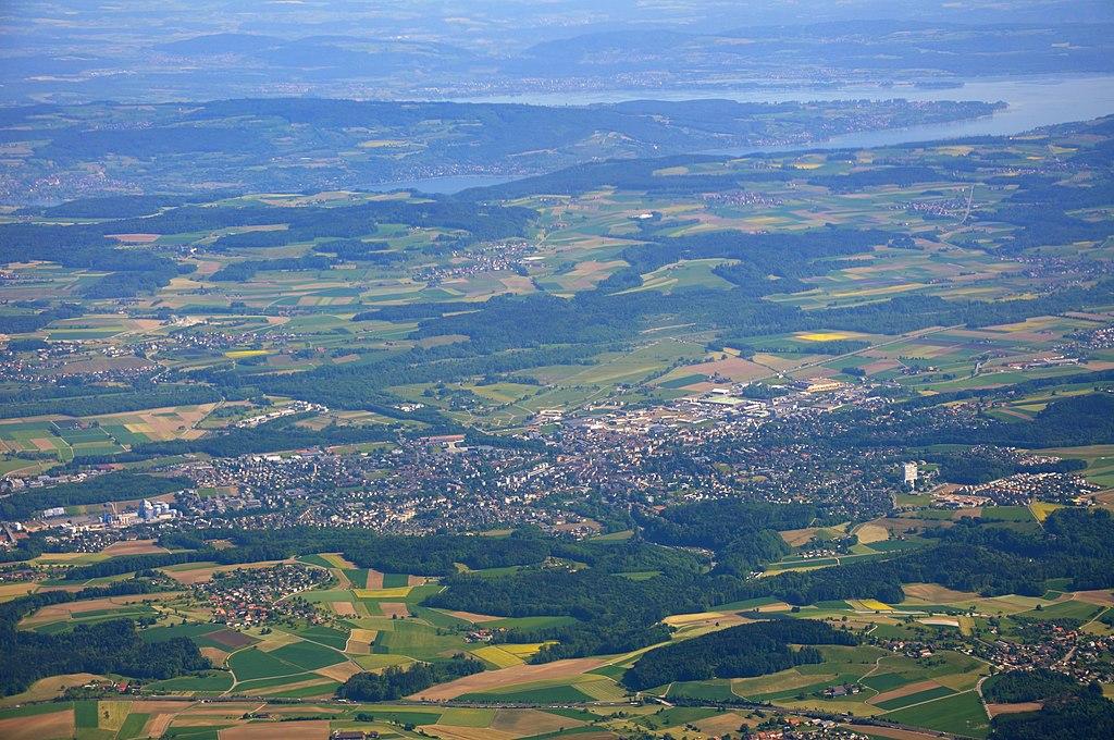 Blick auf Frauenfeld (2011)Im Hintergrund der Bodensee