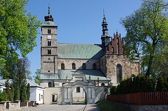 Opatów - St. Martin's Collegiate Church, Opatów, a Romanesque Church from the second half of the 12th century