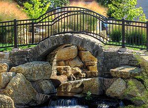 Stone Arch Bridge (Champaign, Illinois) - Image: 2012 09 19 champaign stone arch bridge 019 1 crop