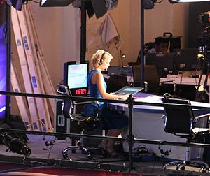 Megyn Kelly - Kelly working as an anchor during Fox's 2012 Democratic National Convention coverage