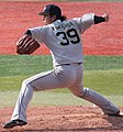 20130317 Takashi Kamoshida, pitcher of the ORIX Buffaloes, at Yokohama Stadium.JPG
