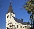 2013 Karwina, Frysztat, Kościół Podwyższenia Krzyża Świętego 01.jpg