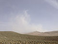 2014-06-12 16 43 22 Blowing dust south of Nevada State Route 293 (Kings River Road) 2.4 miles east of the western terminus.JPG