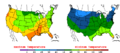 2015-10-06 Color Max-min Temperature Map NOAA.png