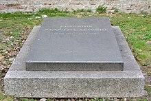 Grab von Eusebius Mandyczewski (Quelle: Wikimedia)