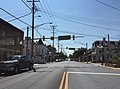 2016-08-20 11 35 30 View south along Maryland State Route 30 (Main Street) at Westminster Street and York Street in Manchester, Carroll County, Maryland.jpg