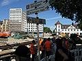 2017-08-22, Umbau des Verkehrsknotens am Siegesdenkmal in Freiburg, Gleisanschluss der Kaiser-Joseph-Straße 4.jpg