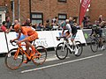2017 Tour of Britain (4) - 176 Jan Tratnik, 106 Connor Swift and 193 Jonathan Castroviejo.JPG