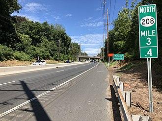 Glen Rock, New Jersey - Route 208 northbound in Glen Rock
