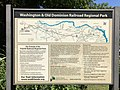 2018-08-23 12 37 36 Washington & Old Dominion Railroad Regional Park map near the west end of the Washington and Old Dominion Trail in Purcellville, Loudoun County, Virginia.jpg