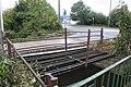 2018 at Glastonbury station site - remains of small bridge.JPG