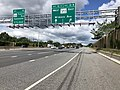 2019-06-14 11 16 16 View north along the Inner Loop of the Baltimore Beltway (Interstate 695) at Exit 12B (Maryland State Route 372 EAST-Wilkens Avenue) in Arbutus, Baltimore County, Maryland.jpg