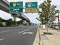 2019-09-17 13 01 11 View west along Virginia State Route 7 (Leesburg Pike) at the exit for Virginia State Route 267 EAST (Washington) in Tysons Corner, Fairfax County, Virginia.jpg