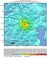 2020 February 23 0553 Iran-Turkey border region earthquake intensity.jpg