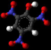 Тринитрофенол: вид молекулы