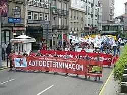 Manifestação independentista na Galiza (Santiago de Compostela, 2005)