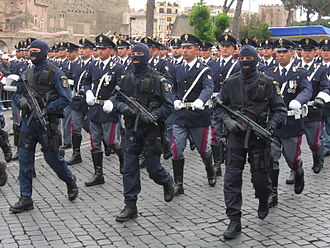 Polizia di Stato - Photo of Army Parade in Rome, 2 June 2006, Republic Day. NOCS special groups