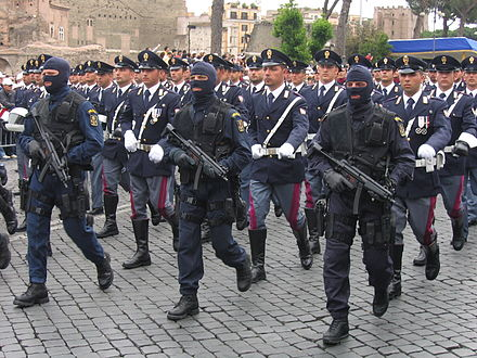 Photo of Army Parade in Rome, 2 June 2006, Republic Day. NOCS special groups - Polizia di Stato