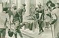 37-011 dimanche 18 mars 1900 L'incendie de la Comédie française - le corps de Mlle Jane Henriot transporté à la morgue..jpg