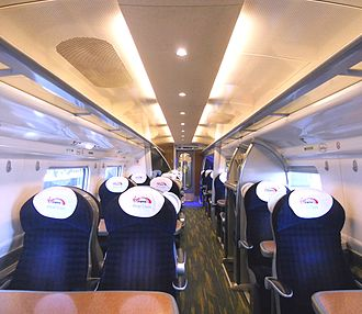 British Rail Class 390 - The interior of First Class