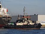 42 (tugboat, 2012) towing Genius Star through the Port of Antwerp pic1.JPG