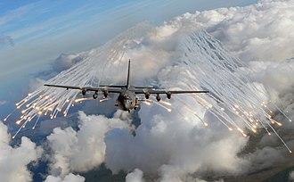 4th Special Operations Squadron - An AC-130U from the 4th Special Operations Squadron jettisons flares near Hurlburt Field