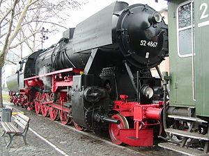 DRB Class 52 - Image: 52 4867 Hafenbahn Frankfurt