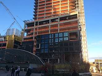 55 Hudson Yards - Construction progress in February 2017