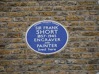 56 Brook Green - Blue plaque, 56 Brook Green