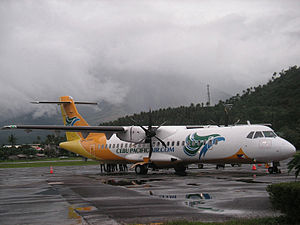 Cebu Pacific ATR72-500 aircraft flying from/to...