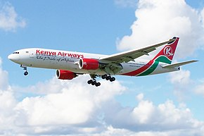 5Y-KYZ Boeing 777 Kenya Airways (7510623376).jpg