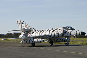 NATO Tiger Association - A Super Étendard of the Flottille 11F of the French Navy during a 'Tiger Meet' in 2007