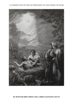 7 Mark's Gospel B. the prelude image 3 of 4. Christ baptized. Ryley