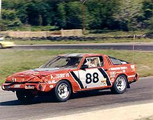 mitsubishi starion team mitsubishi starion winning the 1985 longest day of nelson ledges 24 hour race despite heavy rollover crash damage note the chicken wire