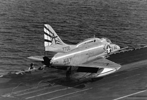 VA-209 (U.S. Navy) - Image: A 4L VA 209 launching from FDR 1970