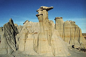 Theodore Roosevelt National Park - Hoodoo rock formation