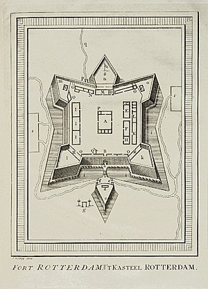Fort Rotterdam - 18th-century layout of Fort Rotterdam.