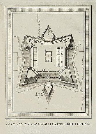 Fort Rotterdam - 18th-century layout of Fort Rotterdam.